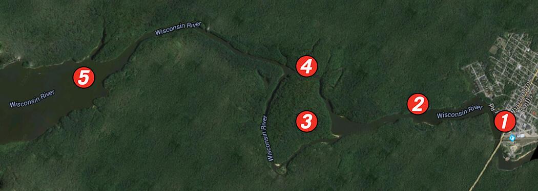 upper dells map
